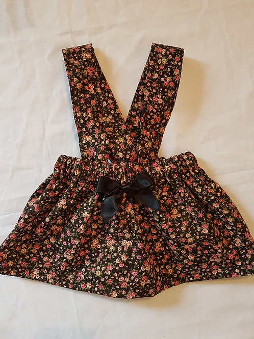 Small floral print braced skirt