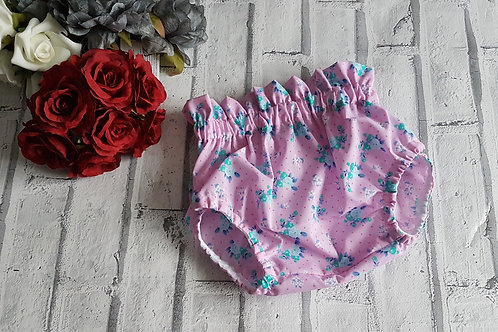 pink and blue flower bloomers