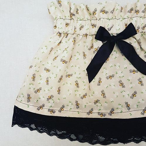 Cream bees skirt