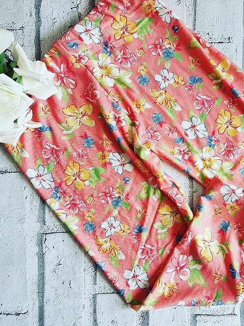 Peach Floral Leggings