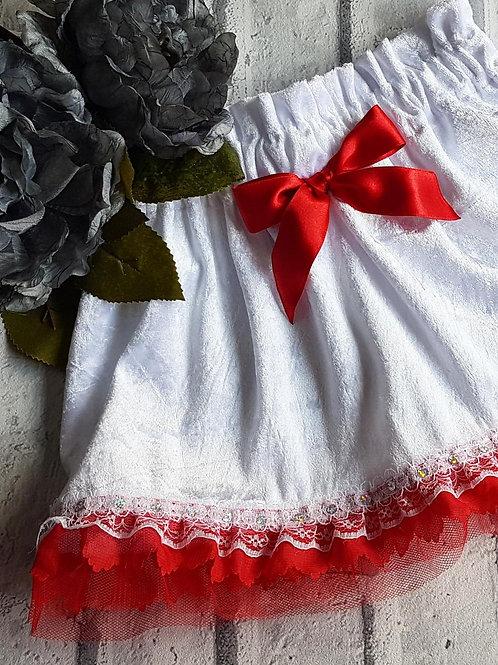 Chrsitmas white detail velvet
