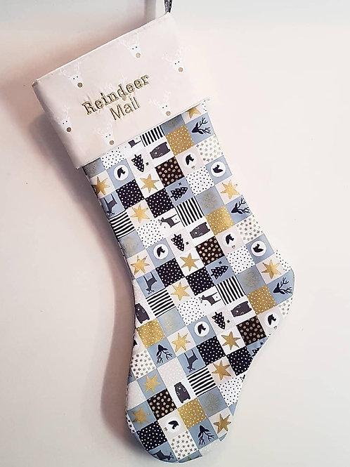 Handmade Personalised Embroidered stocking