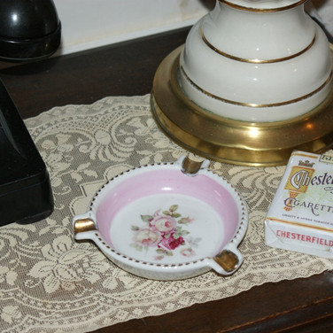 1920s German ashtray and repro cigarettes