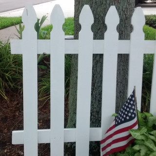 Old Wooden Picket Fence