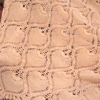 Butter yellow Crochet Tablecloth