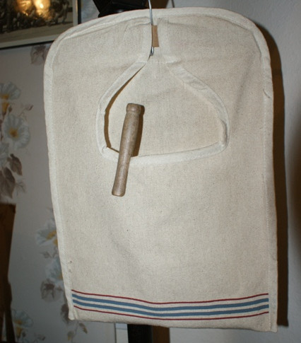 vintage-style laundry bag for clothes line