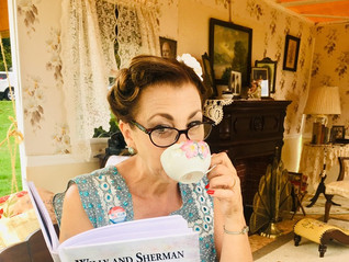 Sipping tea with local author's children's book