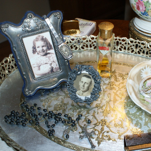 My Vanity, featuring my grandfather and my mother