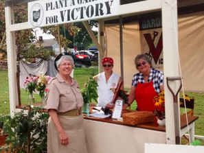 Lovely ladies at the Victory Garden booth