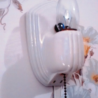 1920s porcelain wall fixture/outlet