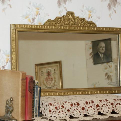 1930s mirror / wooden frame