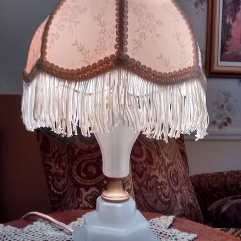 Turn of the Century glass lamp