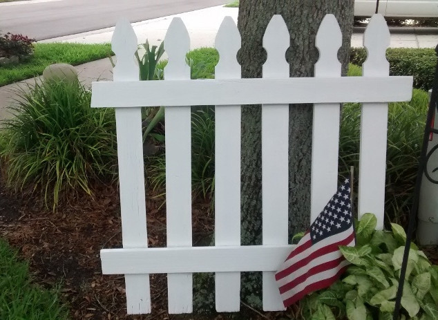 Home Town USA picket fence