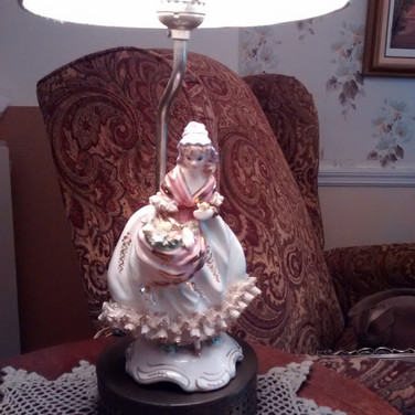 1930s Dresden Germany Figurine Lamp