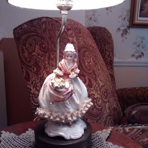 1930s Dresden Germany Figurine Lamp