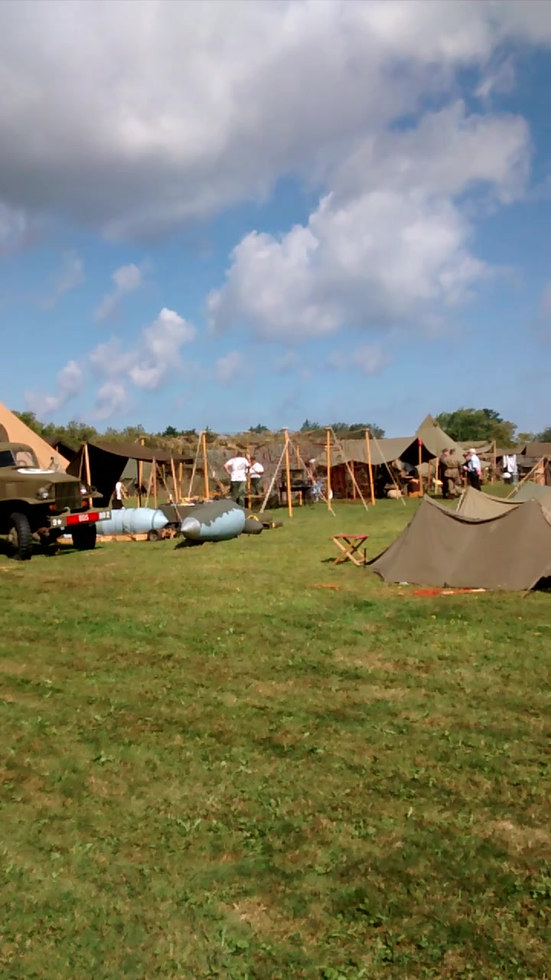 Setting up of Allied camp
