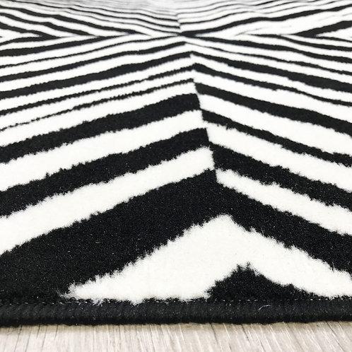 Flash Zebra Black White Blocks 160x225cm