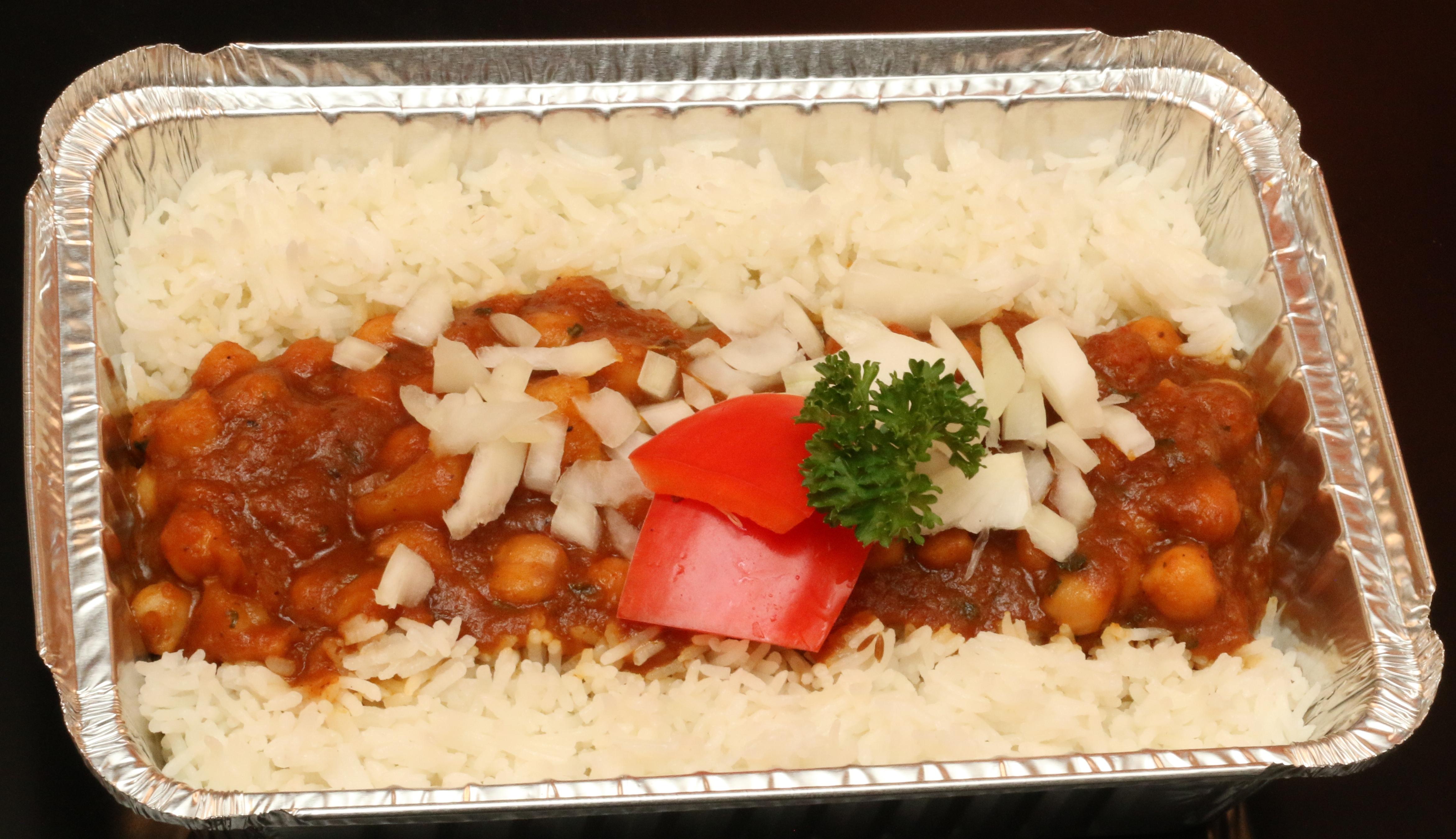 Chana on Rice