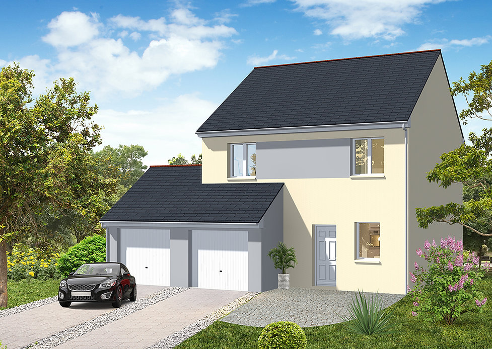 MT 35 - 8(5)-DOUBLE GARAGE - MAISON ETAG