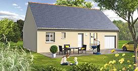 modèle maison garage incorporé