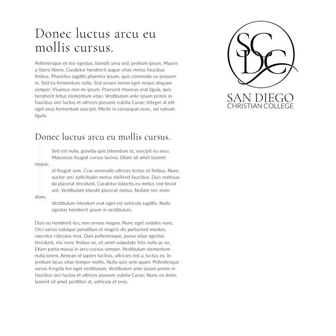 SDCC Body Copy Concept & Small Logo