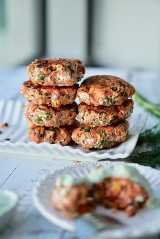 Salmon Patties with Tzatziki Sauce