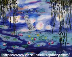 Mara in Monet's pond