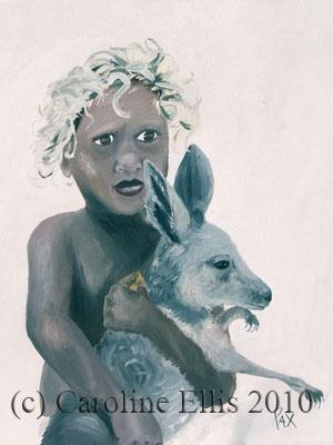 Baby kanga & boy