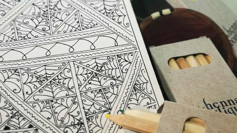 Mindful colouring pack