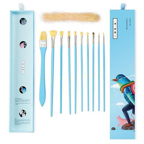Professional Paint Art Brushes - Blue