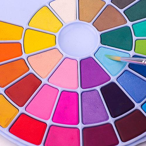 Watercolour Set - 38 colours