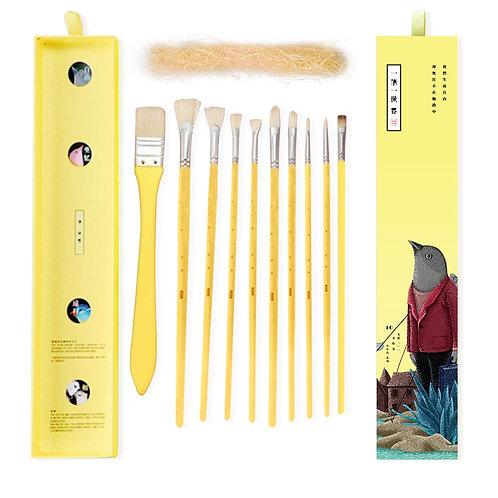 Professional Paint Art Brushes - Yellow