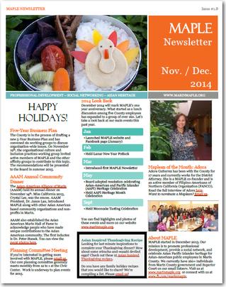 November / December 2014 newsletter