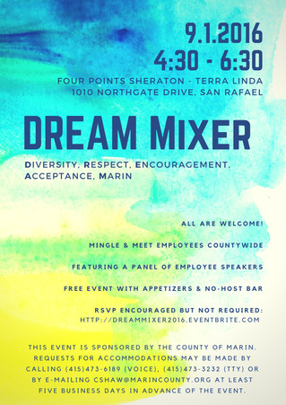 Save the Date: DREAM Mixer 9/1/16