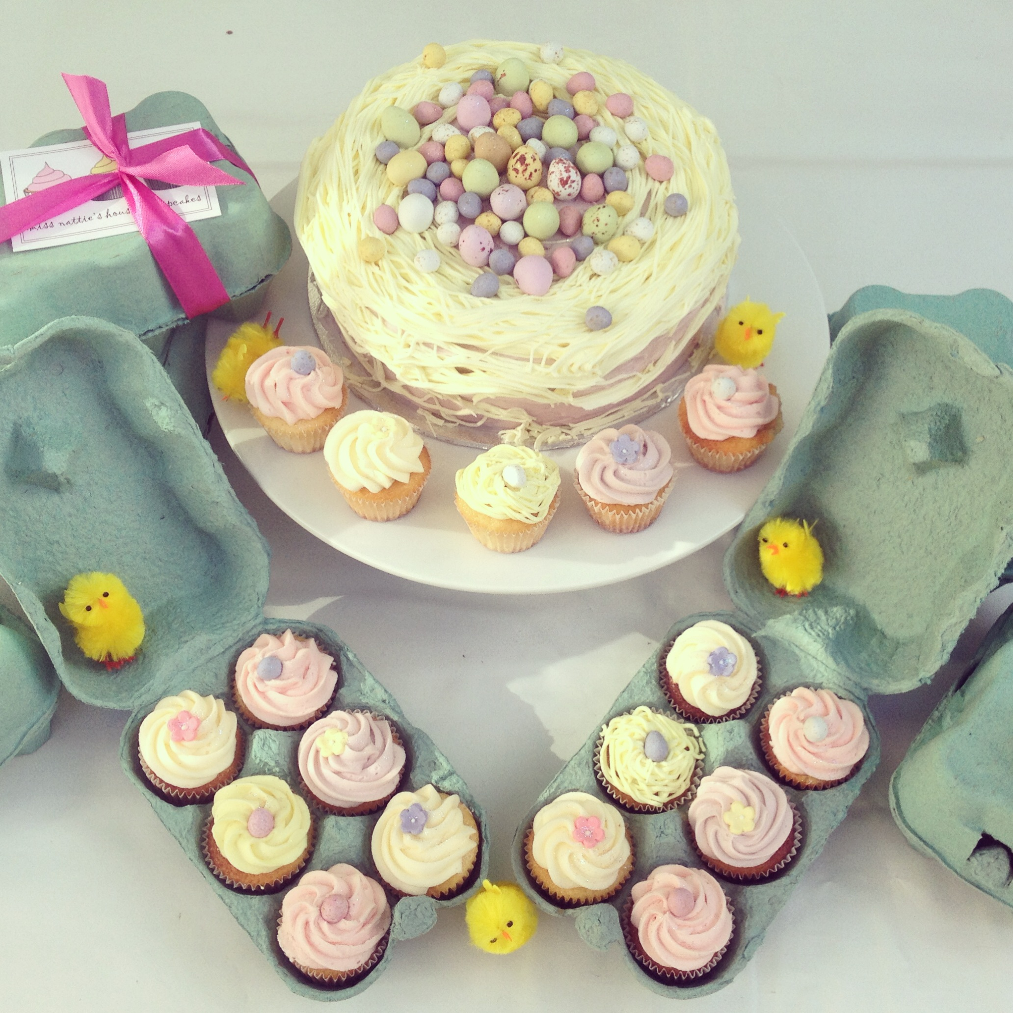Easter Mini Cupcake Gift Box