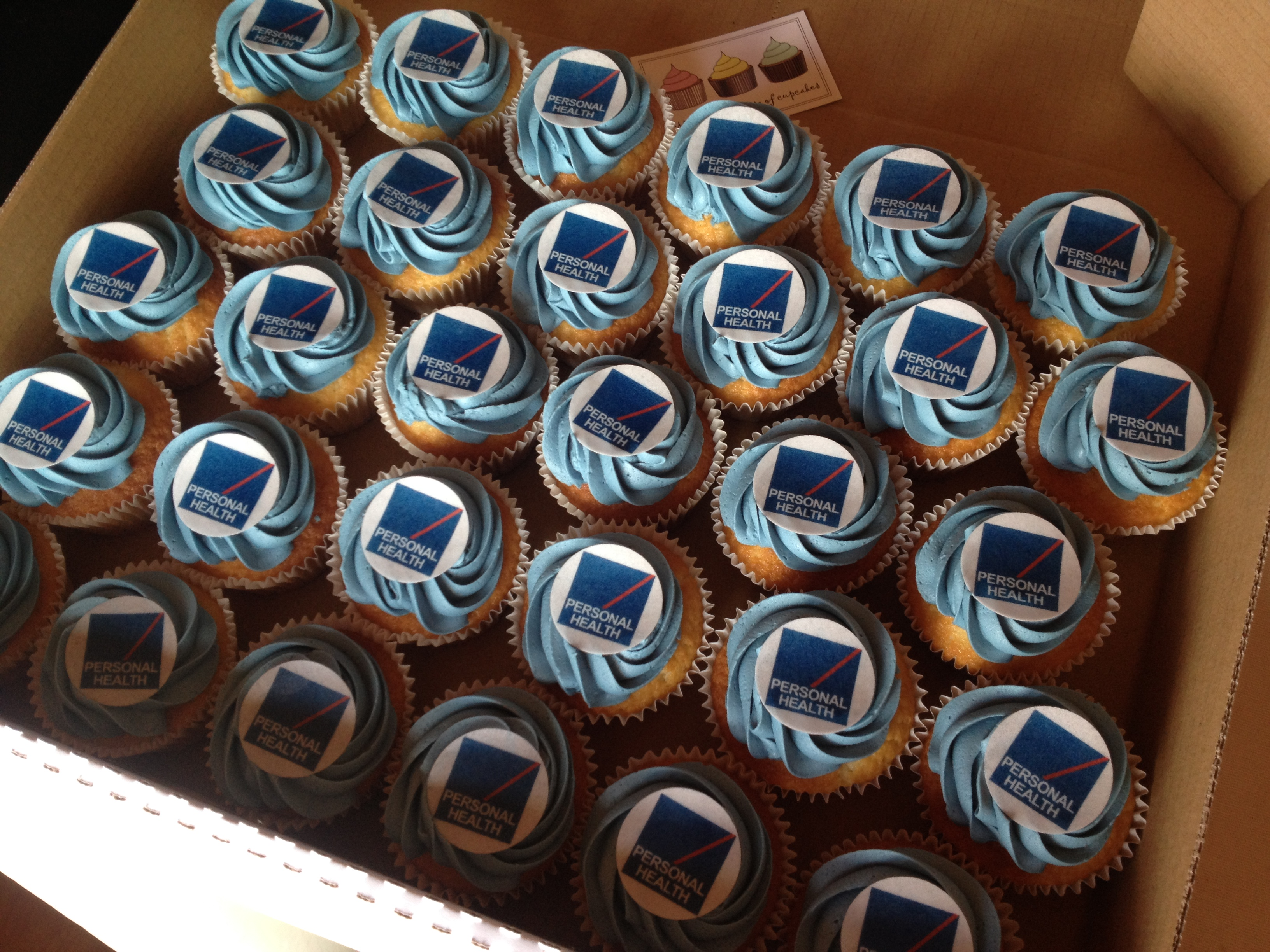 Health On Line Corporate Cupcakes