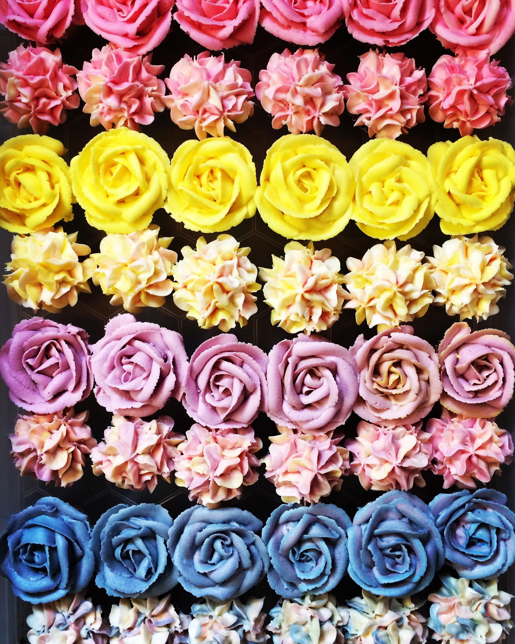 Flower Mini Cupcakes