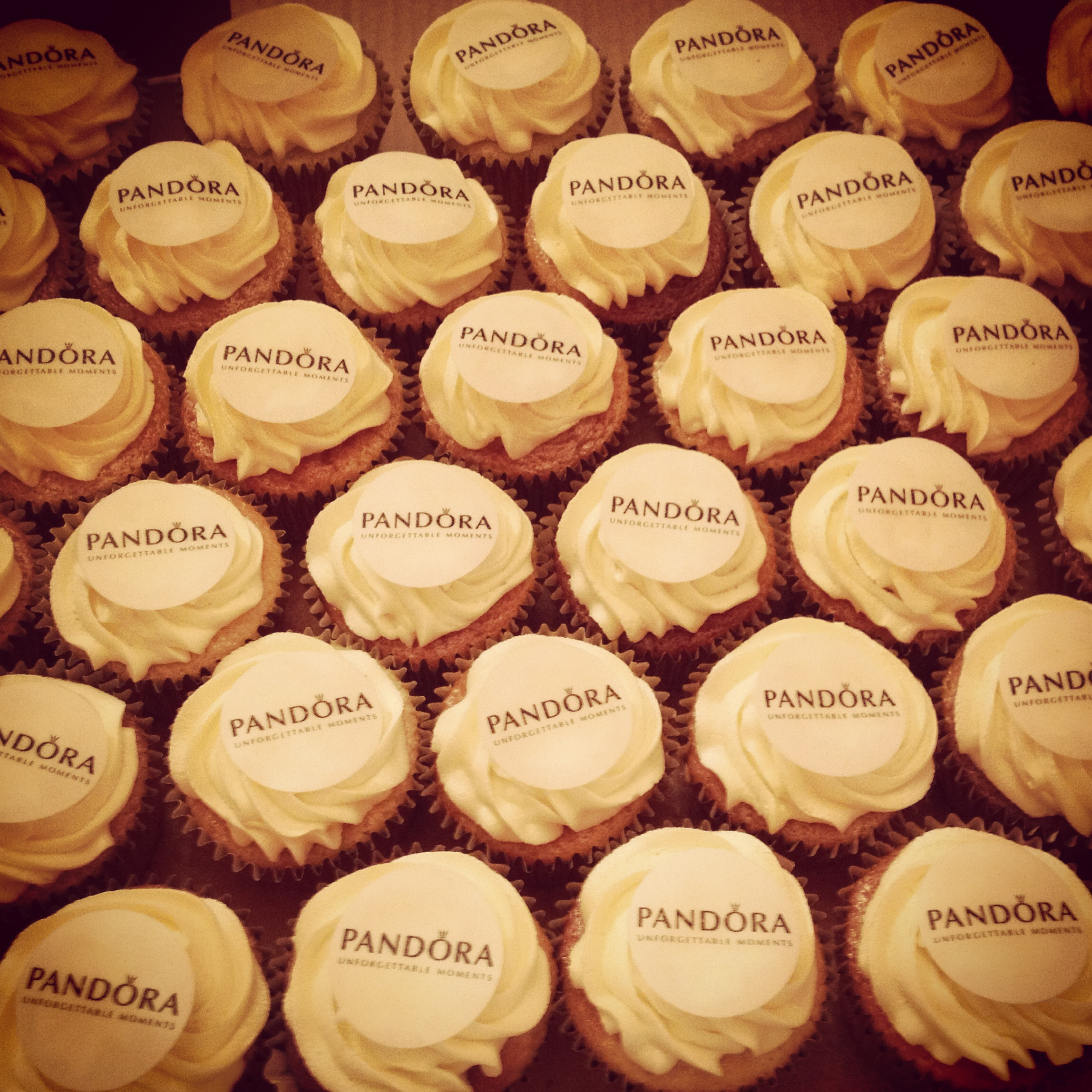 Pandora Corporate Cupcakes