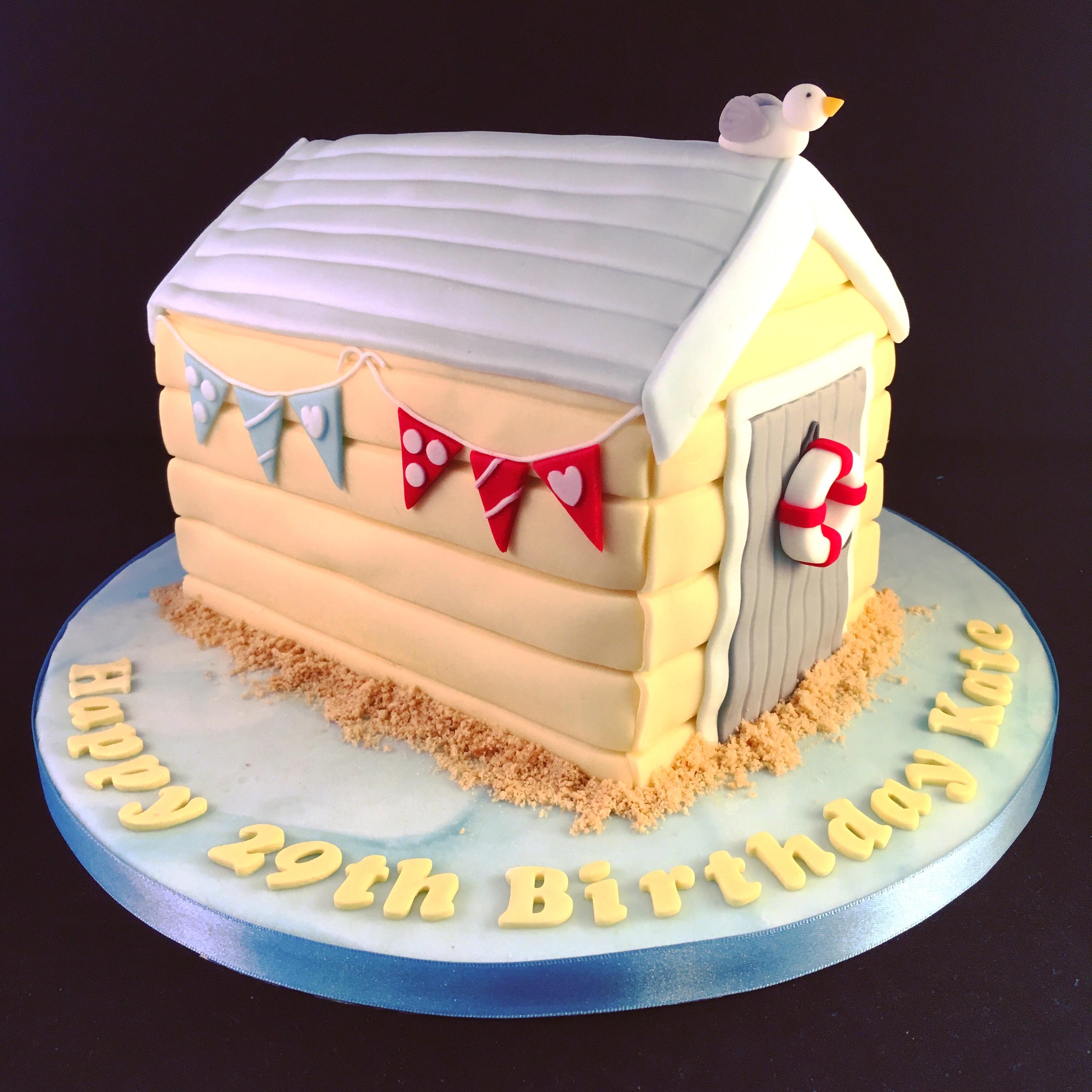 Beach Hut Cake