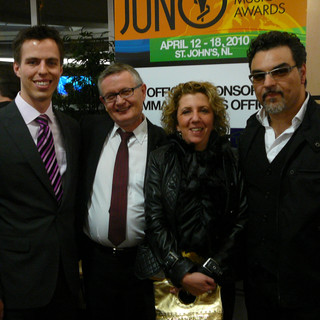 Juno Awards - Caroline Leonardelli with Marjan Mozetich and friends