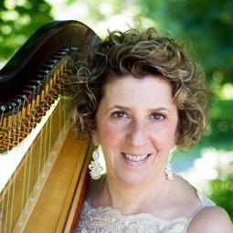 Caroline Leonardelli with her Lyon & Healy Style 30 harp