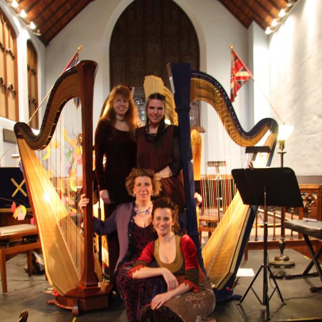 Harp Quartet Caroline Leonardelli, Caroline Lizotte, Jenifer Swartz, Lori Gemmell