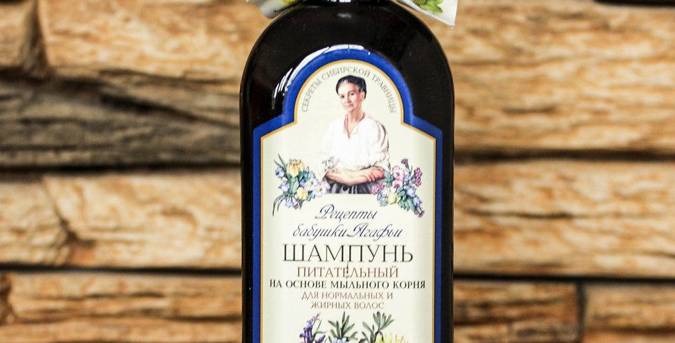 Vyživující šampón pro normální a mastné vlasy - Babička Agáfa