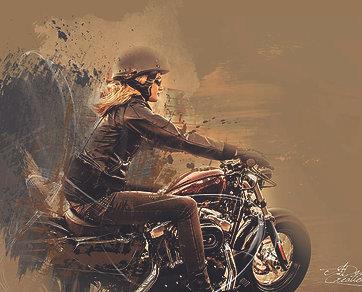 Harley Davidson Woman Driver