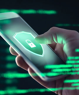 Mobile phone personal data and cyber security threat concept. Cellphone fraud. Smartphone