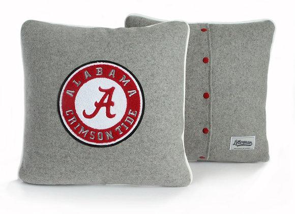 University Of Alabama, Alabama Logo  Letterman Pillow