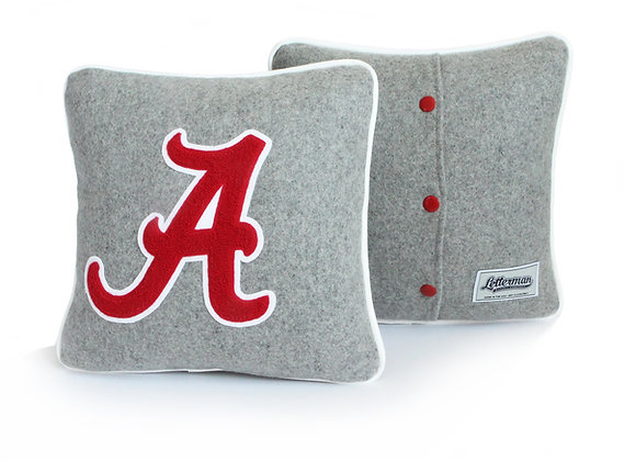 University Of Alabama, A Letterman Pillow