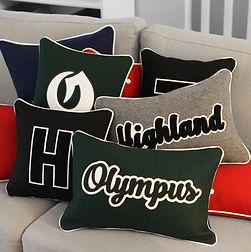 Custom HS Letterman Pillows