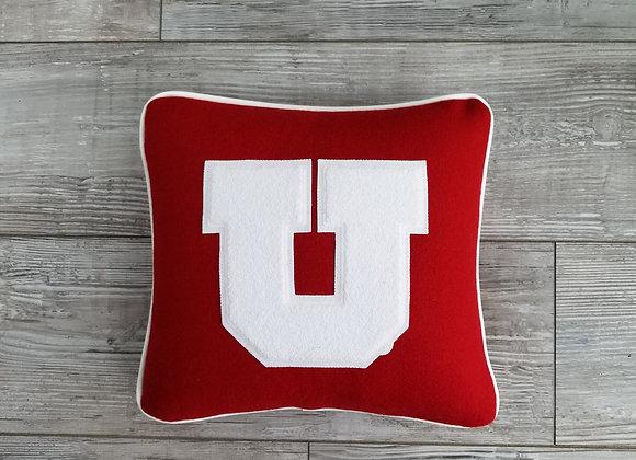University of Utah, Red Block U Letterman Pillow