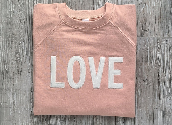LOVE Sweatshirt Blush